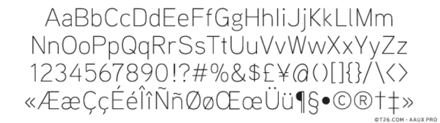 aaux next wide font free download