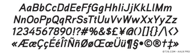 T 26 Digital Type Foundry | Fonts : Aaux Pro A
