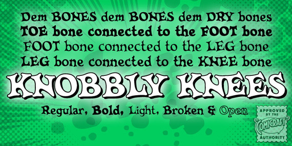 T 26 Digital Type Foundry | Fonts : Knobblyknees